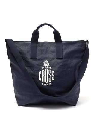 Main View - Click To Enlarge - MARK CROSS - WEATHERBIRD' Logo Canvas Tote