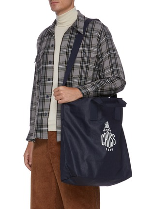 Figure View - Click To Enlarge - MARK CROSS - WEATHERBIRD' Logo Canvas Tote