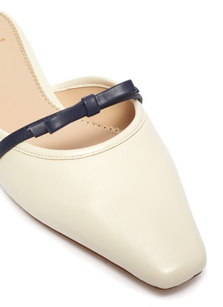 Detail View - Click To Enlarge - SAM EDELMAN - Carol' bow strap leather flats