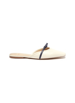 Main View - Click To Enlarge - SAM EDELMAN - Carol' bow strap leather flats