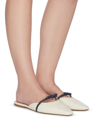 Figure View - Click To Enlarge - SAM EDELMAN - Carol' bow strap leather flats