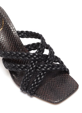 Detail View - Click To Enlarge - SAM EDELMAN - Majorie' braided leather mules