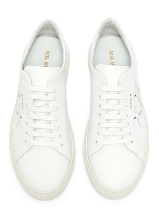 Detail View - Click To Enlarge - AXEL ARIGATO - Clean 90' bird embroidered leather sneakers