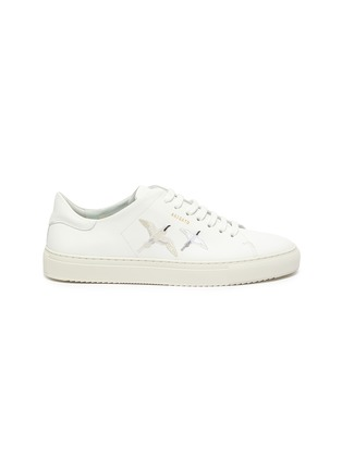 Main View - Click To Enlarge - AXEL ARIGATO - Clean 90' bird embroidered leather sneakers