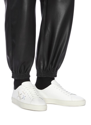 Figure View - Click To Enlarge - AXEL ARIGATO - Clean 90' bird embroidered leather sneakers