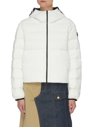 Main View - Click To Enlarge - MONCLER - Anwar' Back Spliced Logo Down Puffer Jacket