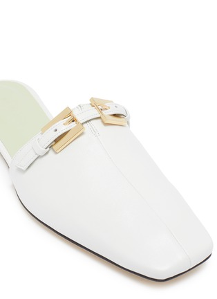 Detail View - Click To Enlarge - BY FAR - 'Rado' Double Buckle Square Toe Mules
