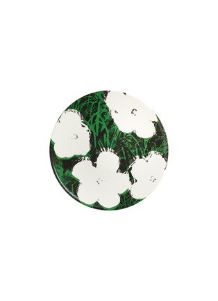 Main View - Click To Enlarge - LIGNE BLANCHE - Andy Warhol 'Flowers – White' Limoges Porcelain Plate