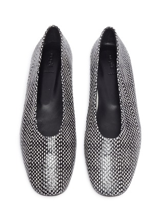 Detail View - Click To Enlarge - AEYDE - 'Kirsten' Snake Embossed Leather Flats