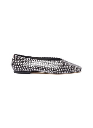 Main View - Click To Enlarge - AEYDE - 'Kirsten' Snake Embossed Leather Flats