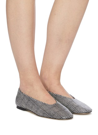 Figure View - Click To Enlarge - AEYDE - 'Kirsten' Snake Embossed Leather Flats