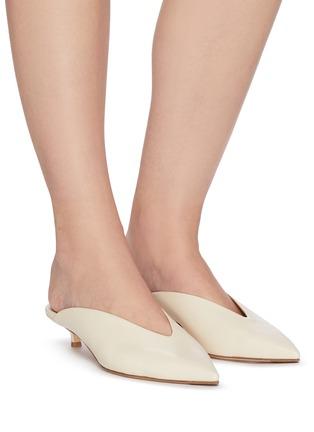 Figure View - Click To Enlarge - AEYDE - 'Veruska' leather mules