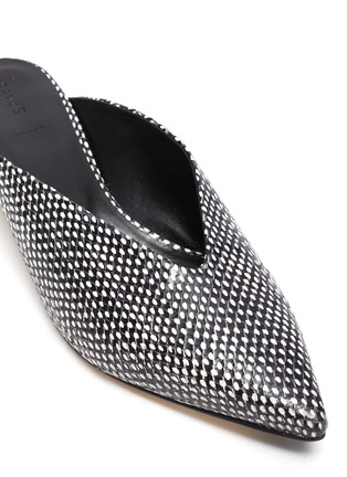 Detail View - Click To Enlarge - AEYDE - 'Veruska' snake embossed leather mules