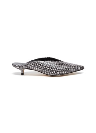 Main View - Click To Enlarge - AEYDE - 'Veruska' snake embossed leather mules