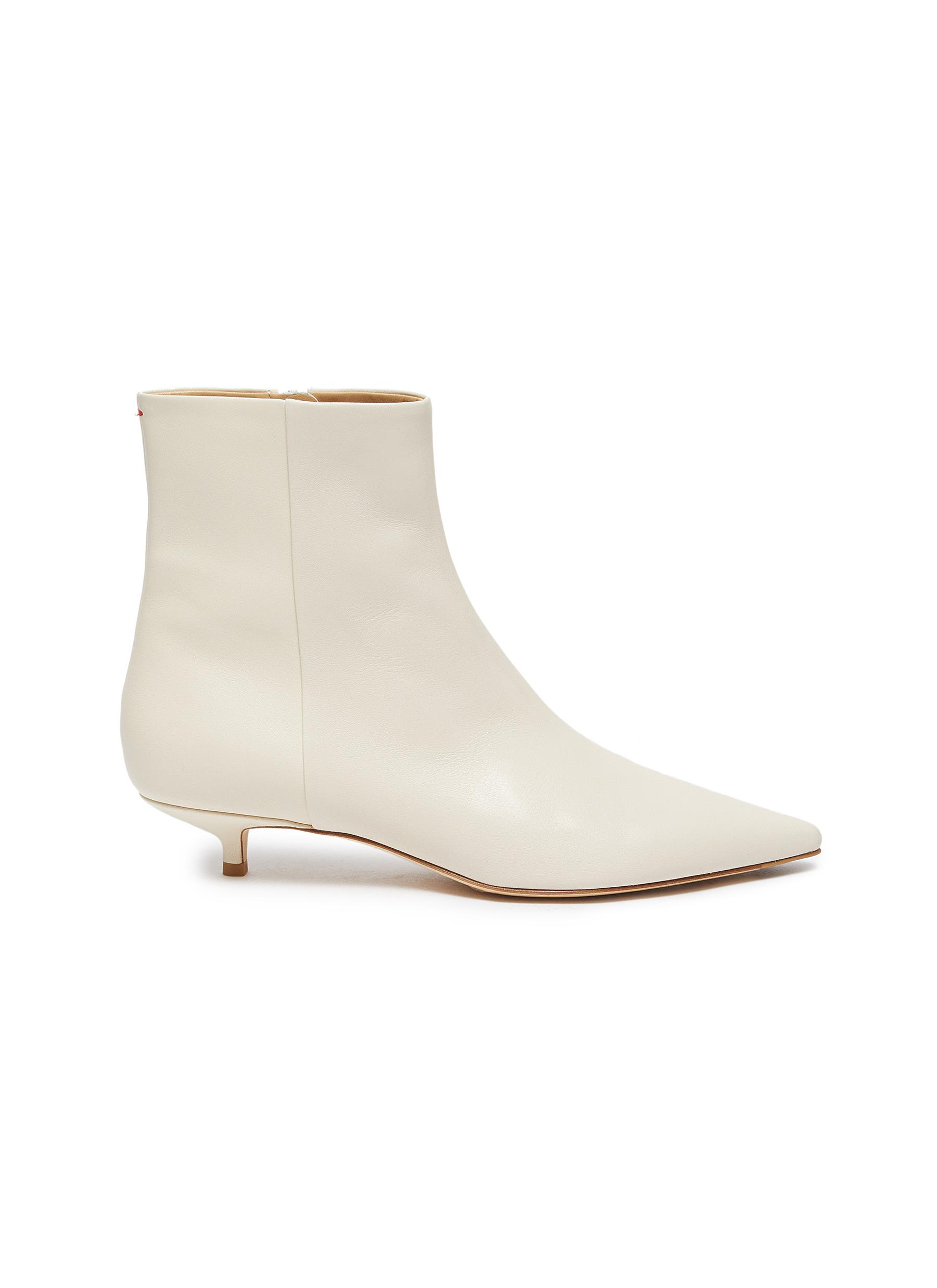 Aeyde 'INA' LEATHER ANKLE BOOTS