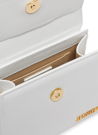 Detail View - Click To Enlarge - JACQUEMUS - 'Le Chiquito Noeud' convertible top handle leather flap bag