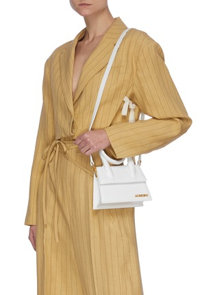 Front View - Click To Enlarge - JACQUEMUS - 'Le Chiquito Noeud' convertible top handle leather flap bag