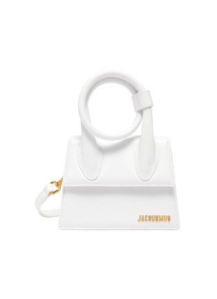 Main View - Click To Enlarge - JACQUEMUS - 'Le Chiquito Noeud' convertible top handle leather flap bag