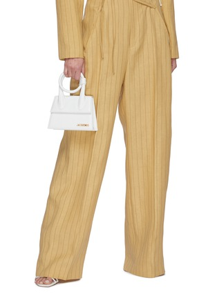 Figure View - Click To Enlarge - JACQUEMUS - 'Le Chiquito Noeud' convertible top handle leather flap bag