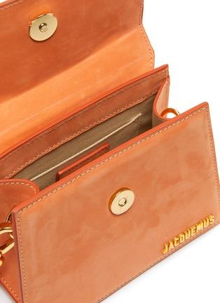 Detail View - Click To Enlarge - JACQUEMUS - Le Chiquito Noeud' Convertible Top Handle Nubuck Flap Bag