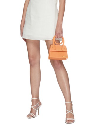 Front View - Click To Enlarge - JACQUEMUS - Le Chiquito Noeud' Convertible Top Handle Nubuck Flap Bag