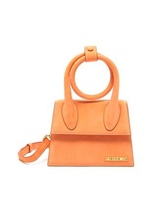 Main View - Click To Enlarge - JACQUEMUS - Le Chiquito Noeud' Convertible Top Handle Nubuck Flap Bag