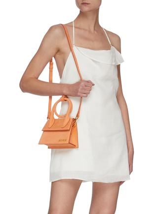 Figure View - Click To Enlarge - JACQUEMUS - Le Chiquito Noeud' Convertible Top Handle Nubuck Flap Bag