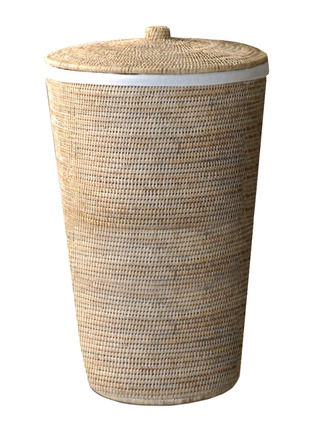Main View - Click To Enlarge - DECOR WALTHER - Rattan Laundry Basket – Light