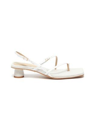 Main View - Click To Enlarge - JACQUEMUS - Les Sandales Basgia' toe ring heeled sandals