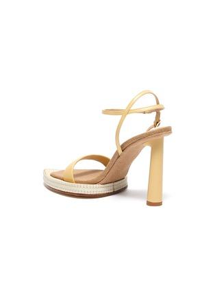 - JACQUEMUS - 'Les Sandales Novio' exaggerated sole leather sandals