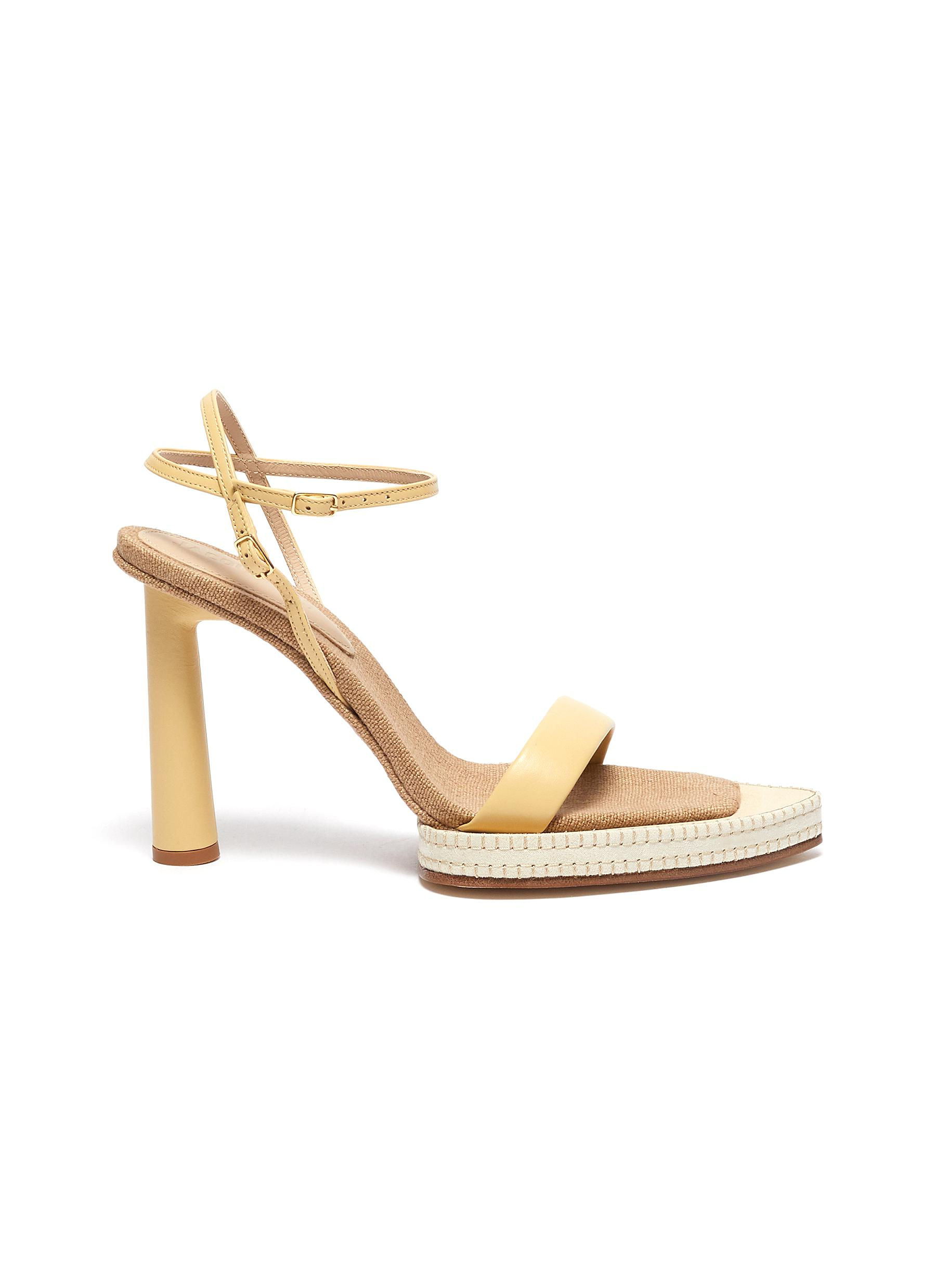 Jacquemus 'LES SANDALES NOVIO' EXAGGERATED SOLE LEATHER SANDALS