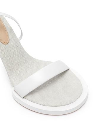 - JACQUEMUS - Les Carre Rond' mismatched ankle strap sandals