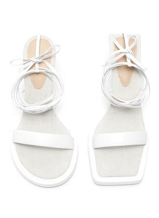Main View - Click To Enlarge - JACQUEMUS - Les Carre Rond' mismatched ankle strap sandals