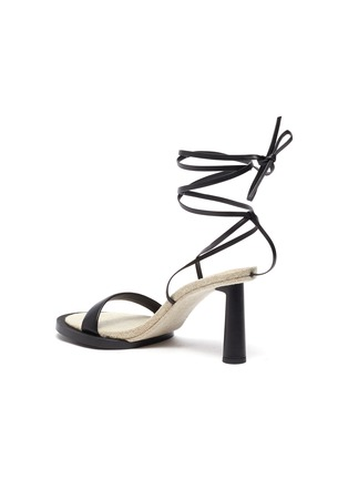 Detail View - Click To Enlarge - JACQUEMUS - Les Carre Rond' strappy leather linen sandals