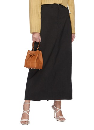Figure View - Click To Enlarge - STRATHBERRY - Lana Osette' Top Handle Drawstring Leather Bucket Bag