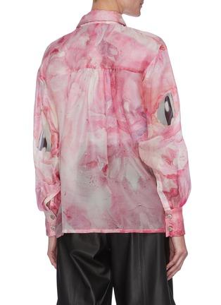 Back View - Click To Enlarge - ANGEL CHEN - x Jiajia Wang Abstract Print Sheer Shirt