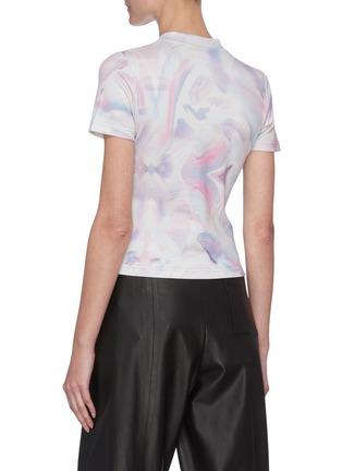 Back View - Click To Enlarge - ANGEL CHEN - x Jiajia Wang Logo Print Abstract Print T-shirt