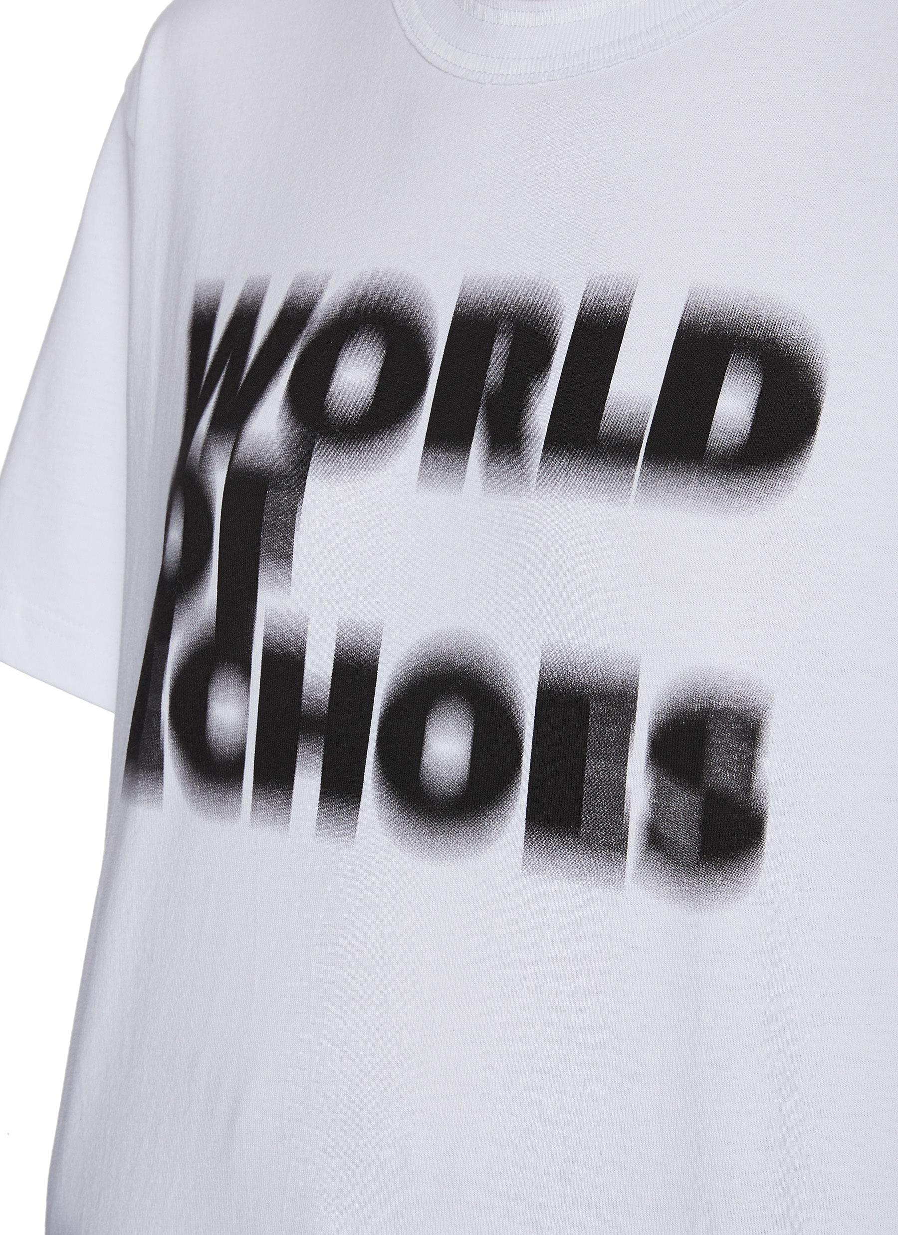 SACAI T-shirts X FRANÇOIS K. WORLD OF ECHOES SLOGAN LOGO PRINT T-SHIRT