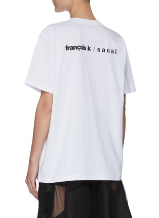 Back View - Click To Enlarge - SACAI - x François K. World Of Echoes Slogan Logo Print T-shirt