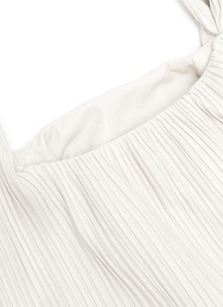 Detail View - Click To Enlarge - NANUSHKA - Jen' large Pleated vegan leather top handle bag