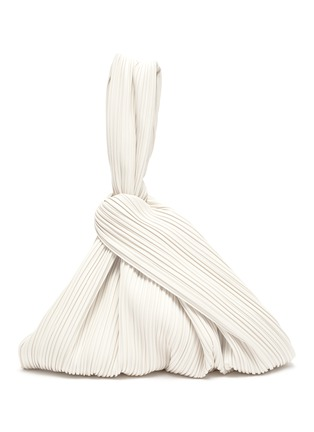Main View - Click To Enlarge - NANUSHKA - Jen' large Pleated vegan leather top handle bag