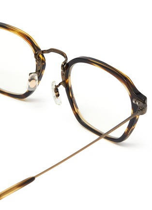 Detail View - Click To Enlarge - OLIVER PEOPLES ACCESSORIES - 'Hilden' Filigree Detail Angular Frame Optical Glasses