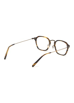 Figure View - Click To Enlarge - OLIVER PEOPLES ACCESSORIES - 'Hilden' Filigree Detail Angular Frame Optical Glasses