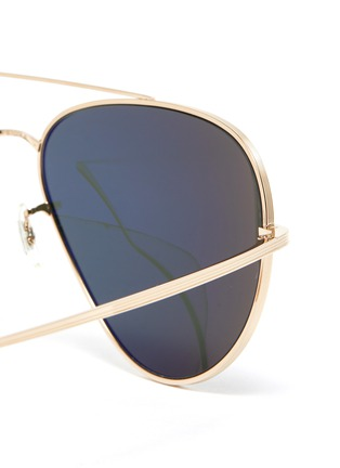 Detail View - Click To Enlarge - OLIVER PEOPLES ACCESSORIES - x The Row 'CASSE' Teardrop Sunglasses
