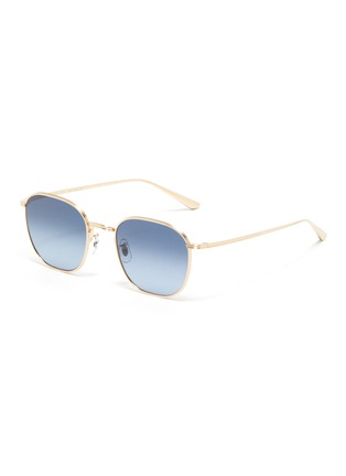 Main View - Click To Enlarge - OLIVER PEOPLES ACCESSORIES - x The Row 'BOARD MEETING 2' METAL FRAME SUNGLASSES