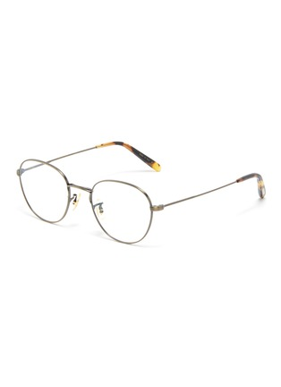 Main View - Click To Enlarge - OLIVER PEOPLES ACCESSORIES - Piercy' Matte Round Frame Optical Glasses