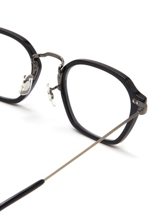 Detail View - Click To Enlarge - OLIVER PEOPLES ACCESSORIES - Hilden' Angular Acetate Frame Optical Glasses