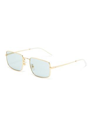 Main View - Click To Enlarge - RAY-BAN - Rectangular Thin Metal Frame Sunglasses