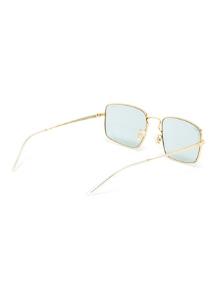 Figure View - Click To Enlarge - RAY-BAN - Rectangular Thin Metal Frame Sunglasses