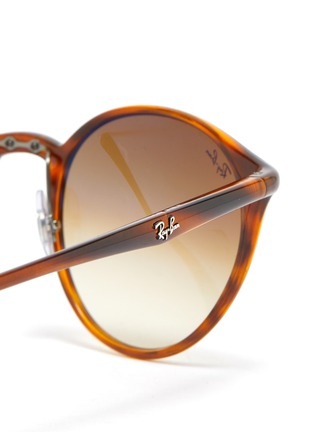 Detail View - Click To Enlarge - RAY-BAN - Tortoiseshell Effect Round Acetate Frame Thin Temple Sunglasses
